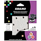 Sidamo - 25 disques auto-agrippants perforés 6 Trous D150 Gr 80 Corindon anti-encrassant - 10940105