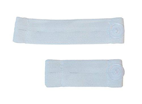Mija – Set 2 Stück Schwangerschaft Rockerweiterung Hosenerweiterung BAUCHBAN 1030 (Weiß)