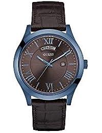 16f46cfc3dd4 GUESS Reloj Analógico para Hombre de Cuarzo con Correa en Cuero W0792G6