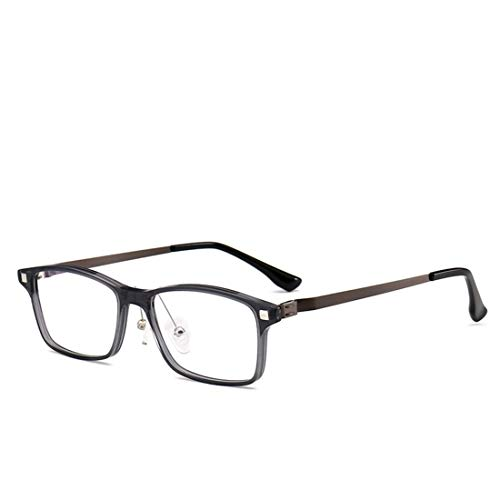 Shiduoli Mode Brillengestelle für Männer und Frauen Nicht verschreibungspflichtige Brillen Männer Frauen Brillen für Computer-Augenbelastung (Color : Gray)