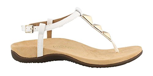 Vionic Nala, Sandales En Forme De T Pour Femme Blanc (blanc)
