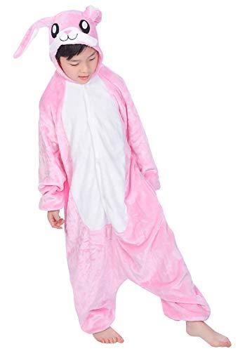 YAOMEI Kinder Onesies Kigurumi Pyjamas, Mädchen Jungen Tier Sleepsuit Nachtwäsche Hoodie, Halloween Kostüm Weihnachten Cosplay Party (110 für Kinder Höhe 100-110CM (39