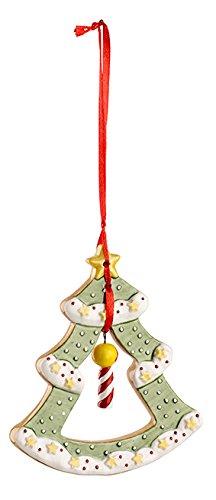 Villeroy & Boch Winter Bakery Decoration Ornamento Albero di Natale, Porcellana, Verde, 8.5 x 1.8 x 13.2