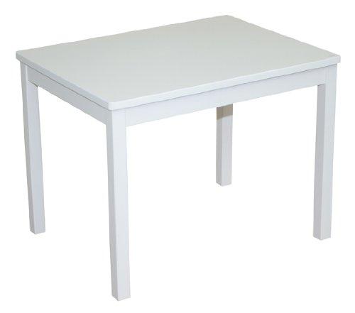 roba Kindertisch, Tisch weiß zum Spielen, Basteln & Malen im Kinderzimmer, HxBxT: 51x66x50 cm