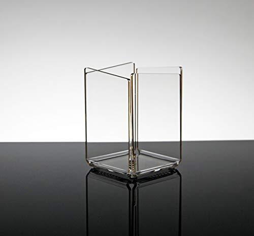 Portapenne da scrivania e da ufficio design moderno in plexiglass trasparente tago