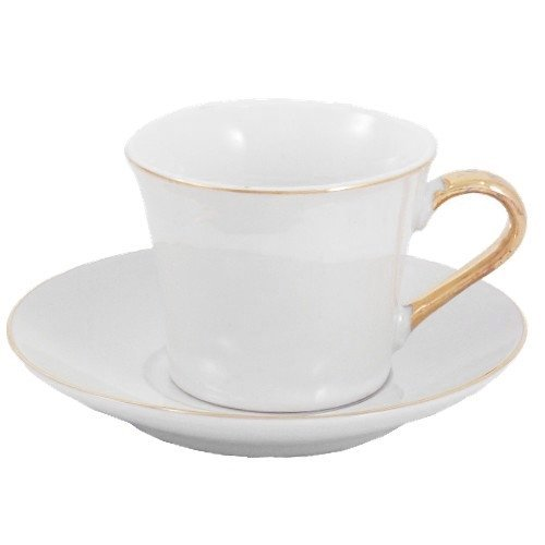 Pearl & Gold 12 Piece Demitasse Espresso Cup & Saucer Set by BigKitchen Gold Demitasse Cup