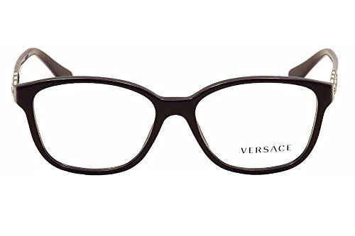 Versace Montures de lunettes 3181B Pour Femme Eggplant, 53mm 5064: Eggplant