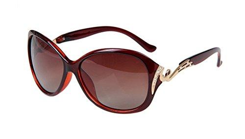 Gespout occhiali da sole da donna alla moda occhiali da sole polarizzati bicolore telaio grande modello del diamante occhiali di protezione uv occhiali da sole da spiaggia,cachi
