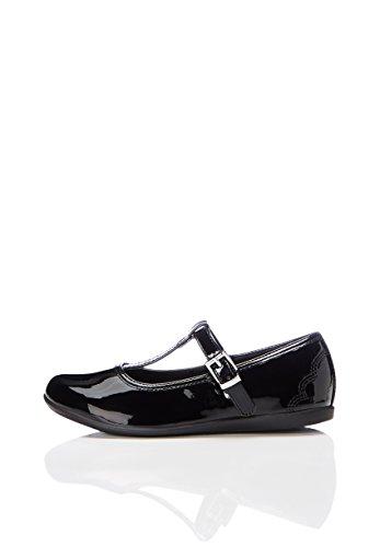 allerinas mit T-Steg, Schwarz (Black Patent), 32 EU (Red Patent Leder Mädchen Schuhe)