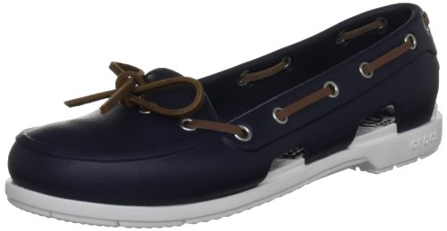 Crocs Beach Line, Mocassins femme, Bleu (Navy/White), EU 41-42 (W10)