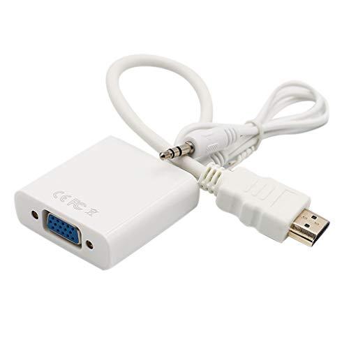 Hd-digital-konverter-box (Topker HD-auf-VGA-Adapter HD-Kabel 1080P Digital-Analog-Audio-Konverter-Mann Famale PC Laptop TV Box-Projektor)