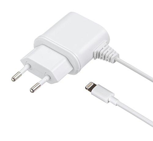 iziert 1 A EU Netzladegerät Ladekabel mit 2-pin EU Netzstecker und Lightning Anschluss Kompatibel mit iPhone 5/5S/5C/6/6 Plus/6S/6S Plus, iPod Nano 7. Generation und iPod Touch 5. Generation - Weiߟ ()