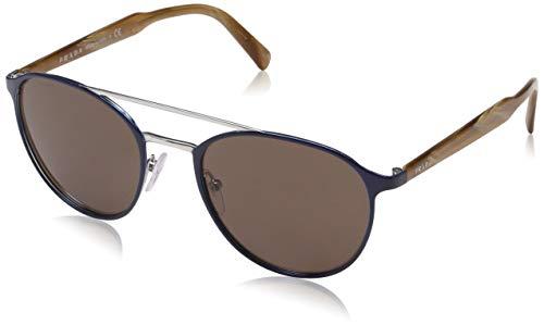 Prada Herren 0PR62TS KI88C1 54 Sonnenbrille, Blau (Bluette/Silver/Brown),