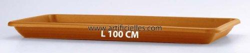 Artificielles.com - Plateau Aero pour Jardiniere Plastique injecte Top Qualite 100 cm Terre Cuite - dimlon: 100 cm - Couleur: Ambre