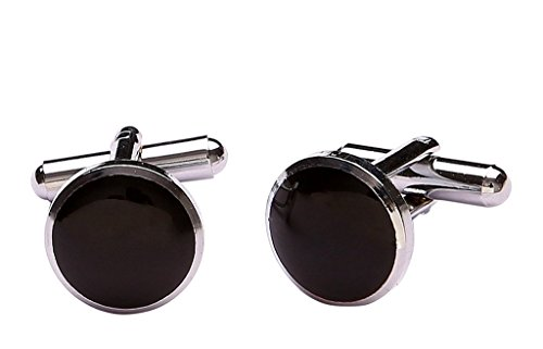 Zacharias Silver Cufflinks For Men BLACK