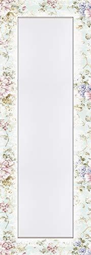 Artland Qualitätsspiegel I Spiegel Wandspiegel Deko Rahmen mit Motiv 50 x 140 cm Botanik Blumen Rose Malerei Pink Rosa D8PG Blumen mit...