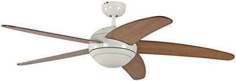 Ventilatore Soffitto Con Luce Pepeo 1341201033_V2 Melton Con Telecomando Incluso Diametro 132 Cm