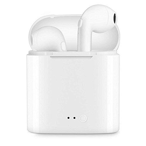ZOVER Écouteurs Bluetooth 5.0, écouteur sans Fil, IPX5 écouteurs étanches à l'eau Casque avec Micro intégré Haute fidélité stéréo avec étui de Charge - Blanc