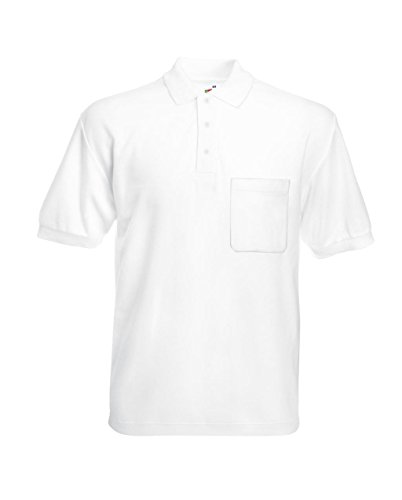 Fruit of the Loom: Pocket Polo 63-308-0, Größe:3XL;Farbe:White (Hemd White Pocket)
