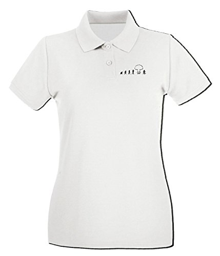 T-Shirtshock - Polo pour femme TM0443 atomic evolution Blanc