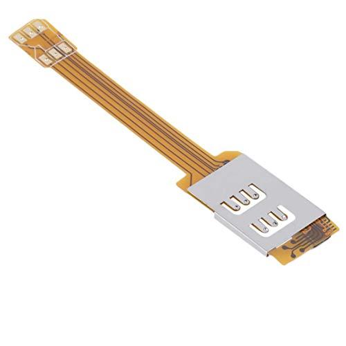 LouiseEvel215 Doble adaptador de tarjeta SIM dual para teléfono móvil de Larga duración en Amarillo Use DOS tarjetas SIM para Samsung.No Tienes que cortar tu tarjeta SIM Dual-sim