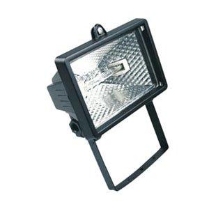 HALOTEC Foco Proyector halógeno con soporte de montaje para exterior (IP54, 120 W) color negro