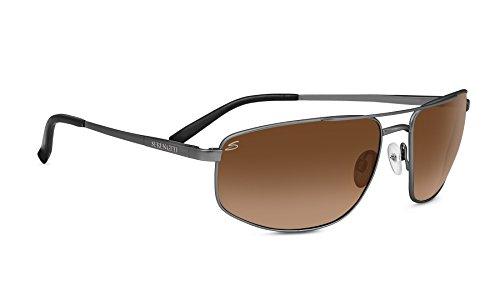 Serengeti Eyewear Sonnenbrille Modugno, Shiny Dark Gunmetal/Drivers Gradient, 8408