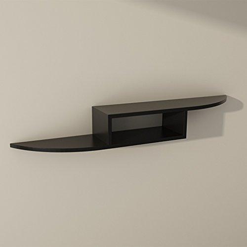 MMM- Meubles en bois massif - top box cintres salon partition routeur de plaque mur de la chambre étagère Meuble TV ( Couleur : Noir )