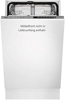 AEG FSE62400P Totalmente integrado 9cubiertos A++ lavavajilla - Lavavajillas (Totalmente integrado, White,Not applicable, Slimline (45 cm), Gris, LCD, Frío, Caliente)