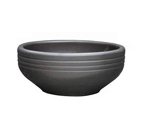 Pot the fleur coupe anthracite Ø 40 x 18 cm - avec trou de drainage - Forme 034.040.70 - grès ceramique résistant au gel - La qualité de Hentschke Keramik