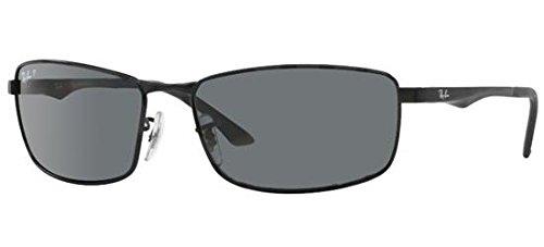 Ray-Ban Unisex Sonnenbrille Mod. 3498, (Gestell: Schwarz, Gläser: Grün Klassisch 002/71), X-Large (Herstellergröße: 61)
