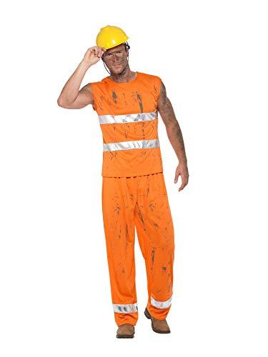 Smiffys SMIFFY 'S-47239-M Bergmann Kostüm, Herren, Orange, mittelgroß, - Bergarbeiter Kostüm