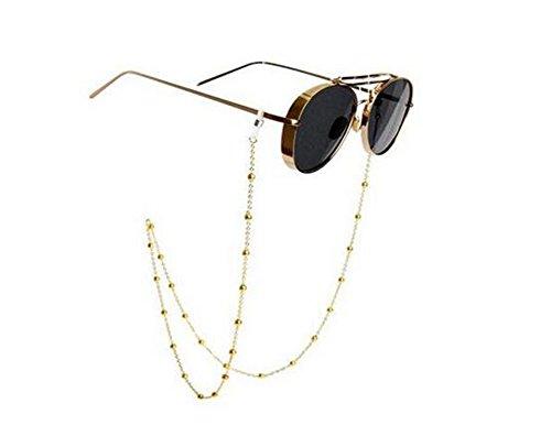Brillen Kette Wulst Brillen Sonnenbrillen Kette Brillen Ketten und Schnüre Hals Strap Halter für Frauen Gold 78cm