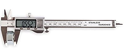 "LOUISWARE Electronic Digital Vernier Caliper, with Extra-Large LCD Screen and 150mm 0-6"" Inch/Metric/Fraction Conversion, Stainless Steel, IP54 Water Resistant"