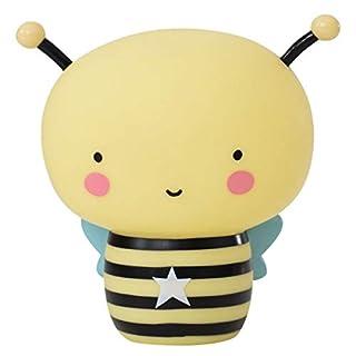 A Little Lovely Company - Nachtlicht - Kinderzimmerlicht - wiederaufladbar - BEE - Biene - Maße (HxBxT): 15,5 x 14 x 8