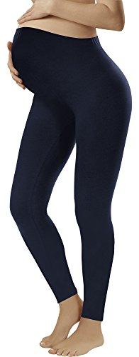 Italian Fashion IF Premamá Leggings para Mujer(Azul Oscuro, S)
