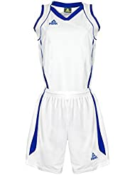 PEAK Sport Europe Basketball Uniform Set  Und Shorts - Camiseta, color blanco (white/royal), talla 2xl