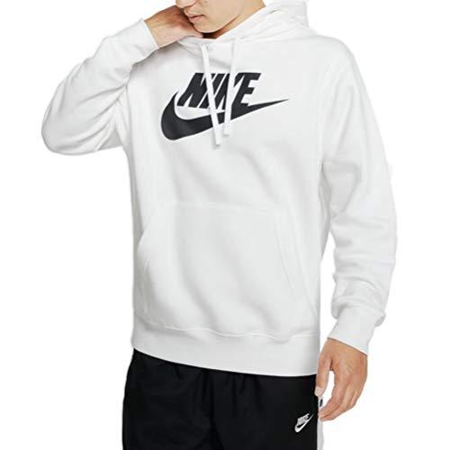 Nike Herren M NSW Club Hoodie PO BB GX Sweatshirt, White/(Black), L