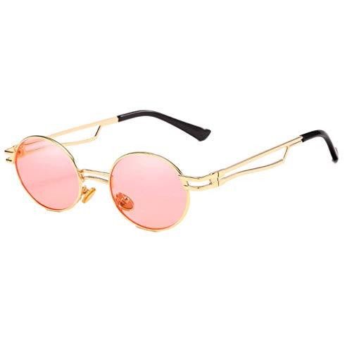 Luckiests Frauen UV-Strahlen Sonnenbrille Hohle Metallrahmen Runde Brillen Frau Sport Radfahren Sonnenbrillen