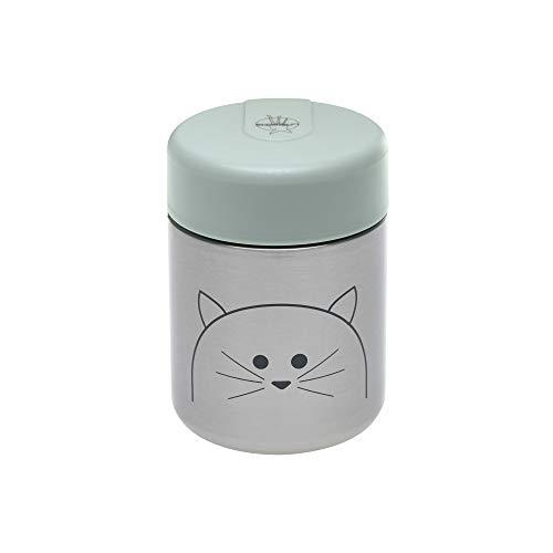 LÄSSIG Baby Kinder Thermo Warmhaltebox Brei Snacks auslaufsicher Edelstahl/Little Chums Cat (Baby Lunch Box)