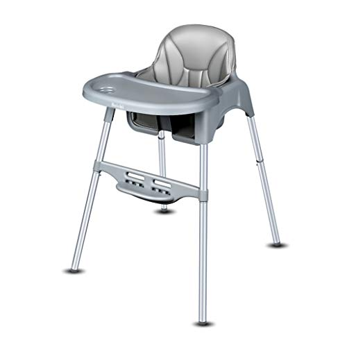 Snack Booster Seat Silla de Comedor Silla de Comedor para niños Comedor Asiento de Comedor Mesa de Comedor Plegable portátil Multifuncional Infantil Sillas (Color : Silver, Size : 60 * 58 * 87cm)