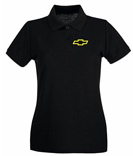 Cotton Island - Polo pour femme FUN1013 classic chevy bowtie shirt Noir