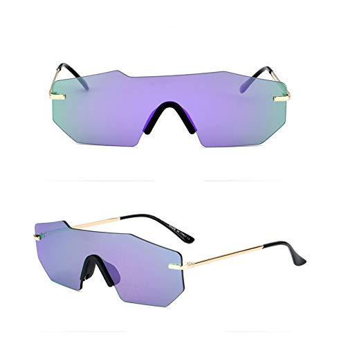 JYTDSA Fashion Polarized Sunglasses Men Women Rimless Mirror Frameless one Piece Driving Glasses