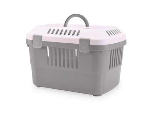 nobby-72140-transportbox-discovery-1-485-x-33-x-315-cm-grau-mit-weissem-deckel