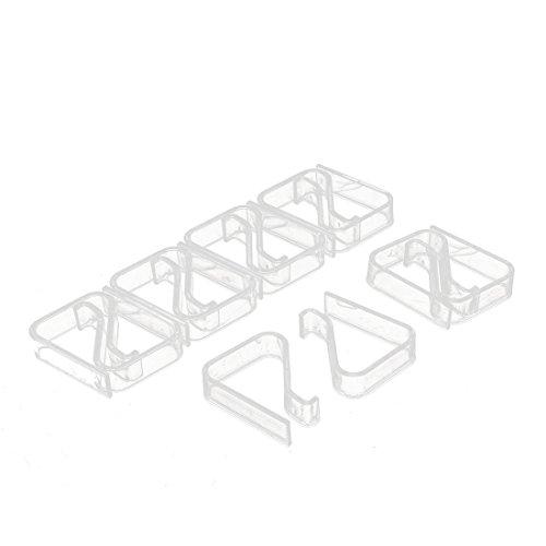 (sourcingmap Kunststoff-Tischdeckenklammer, 2-3,5 cm, 12 Stück)