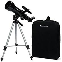 Celestron Travel Scope 70 - Telescopio (aumento 10x, abertura 70 mm), color negro