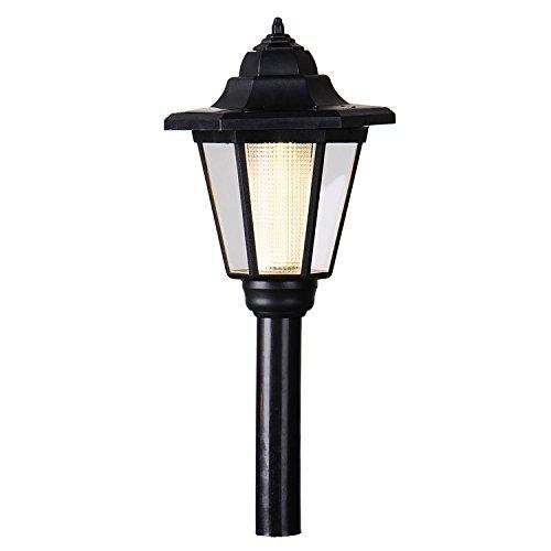 Royal Court Stil Garten Led Solar Lampe Post Laterne Stake Licht Außen Landschaft Wegleuchte für Treppen, Zaun, Hof, Party, Halloween, Hochzeit (Gelb)
