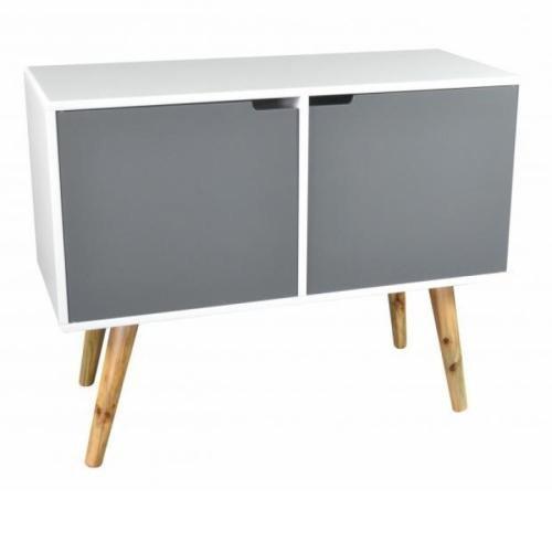 Mueble TV Vintage 2puertas 1hueco bambú–l.90X l.38X H.70cm