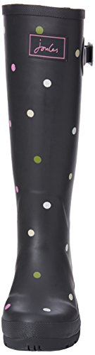 Tom Joule Damen Wellyprint Gummistiefel Grau (Grey Kiki Spot)
