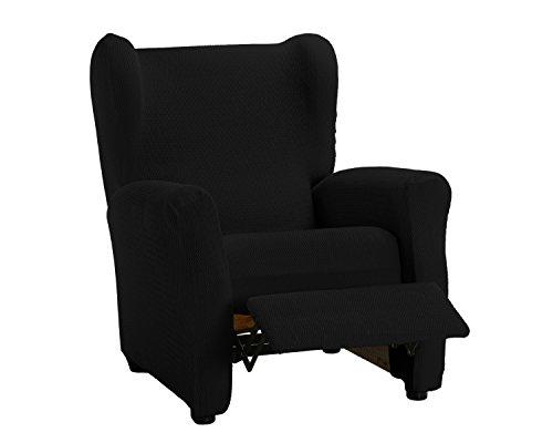 Martina Home Schutzhülle aus elastischem Sessel Modell Tunez Bezug für Relax-Sessel 32x42x8 cm Schwarz
